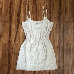 FREE PEOPLE Ruffled Cream Slip Dress S